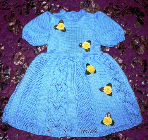 Нарядное платье для внучки