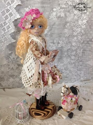 Милочка, текстильная куколка.
