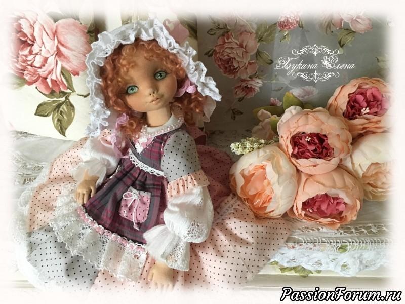 Коллекционная авторская кукла., коллекционные куклы, авторская кукла, будуарная кукла, подвижная кукла, скульптурный текстиль, нежная кукла, текстильная кукла, купить куклу