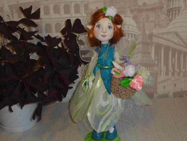Текстильная кукла - фея цветов