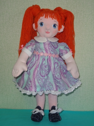 """Кукла - """"рыжик"""", в основе вальдорфский метод"""