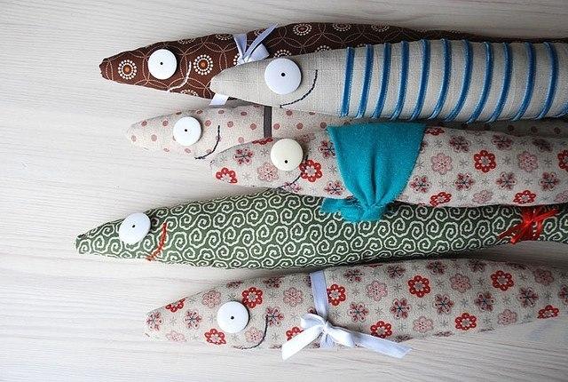 Своими руками рыбки текстильные