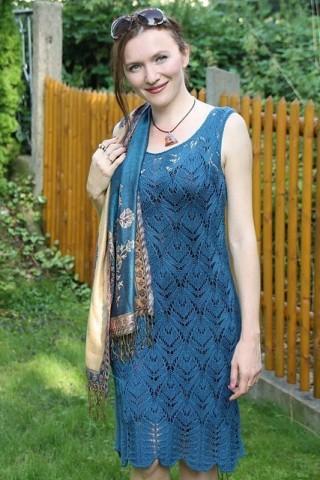 Вязание спицами летнее ажурное платье