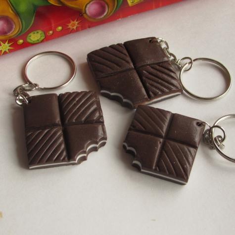 Шоколадки из полимерной глины.
