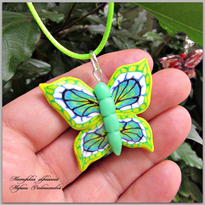 Бабочка из полимерной глины своими руками