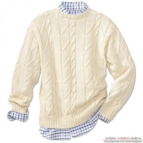 Мужской пуловер поло