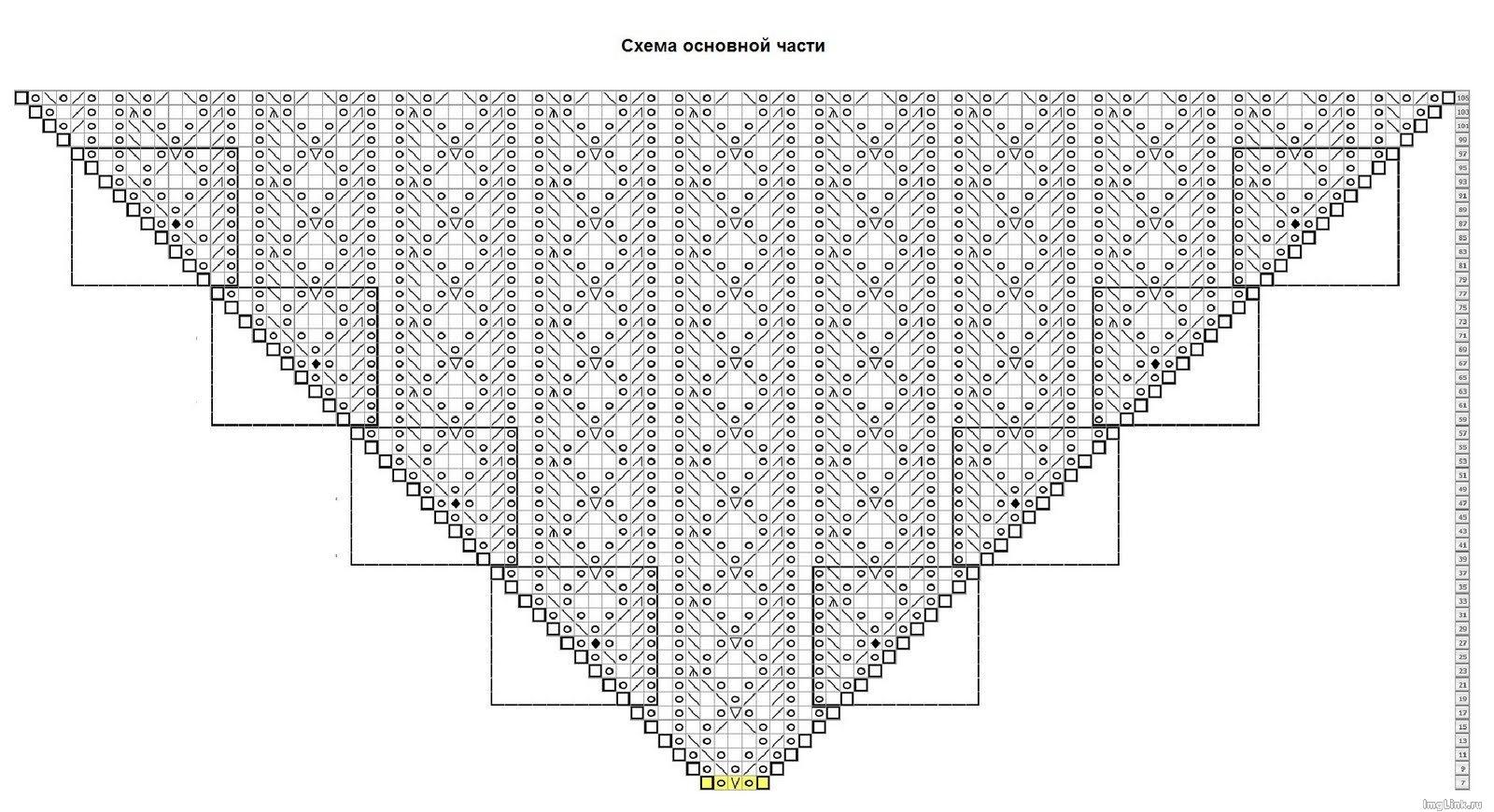 Узоры для вязания шалей спицами 95