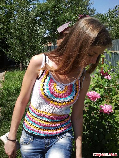 钩针:夏季吊带衫 - maomao - 我随心动