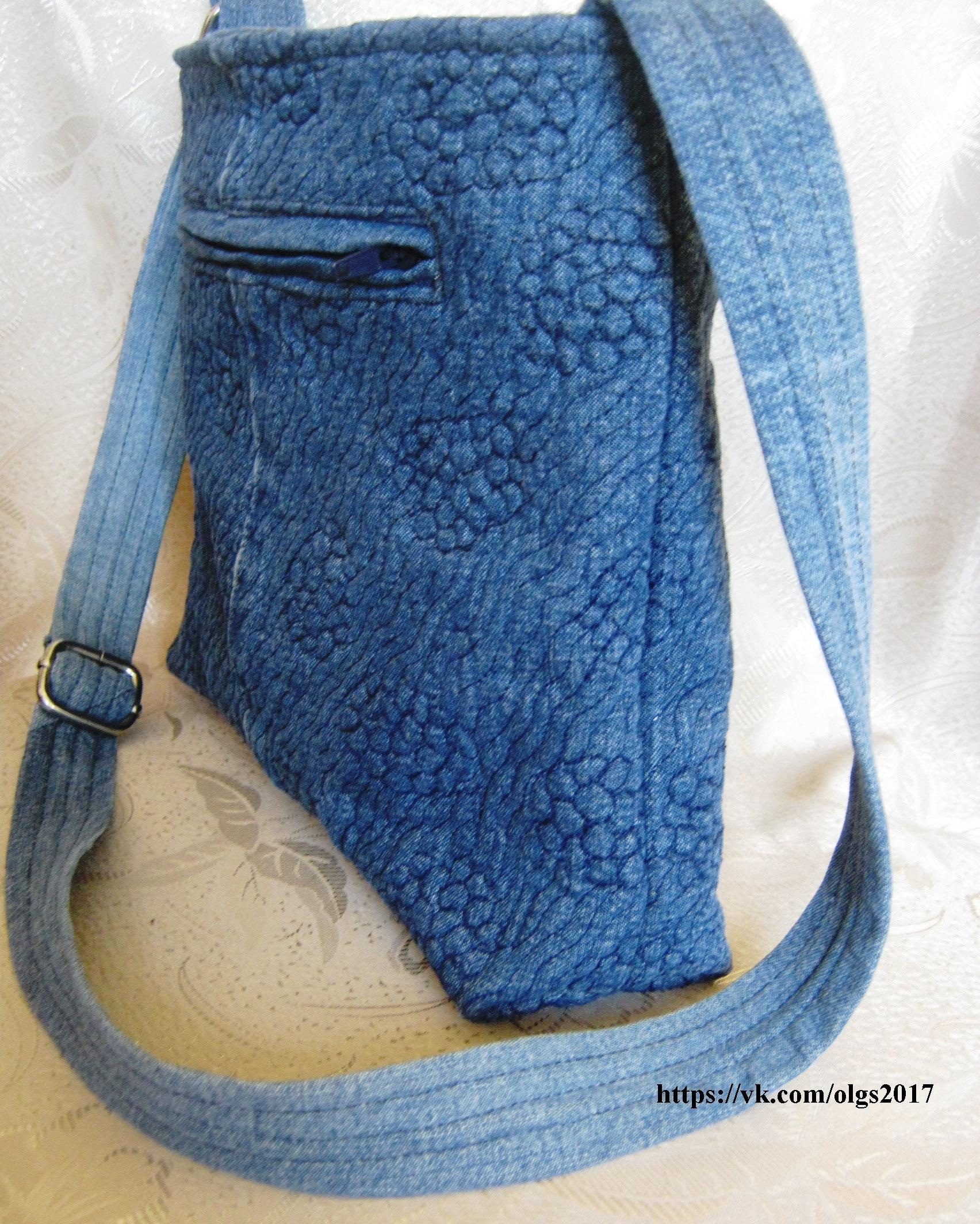 Летняя сумка из старых джинсов своими руками