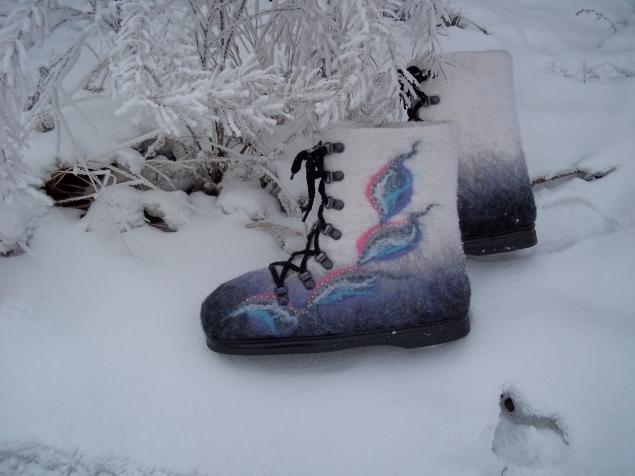 Валяные ботиночки