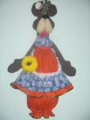 """Кукла-пакетница """"Медведица Фрося""""."""