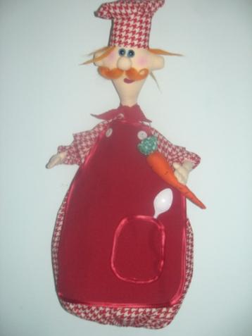 """Кукла-пакетница """"Повар Рыжик"""". Рост 60 см."""