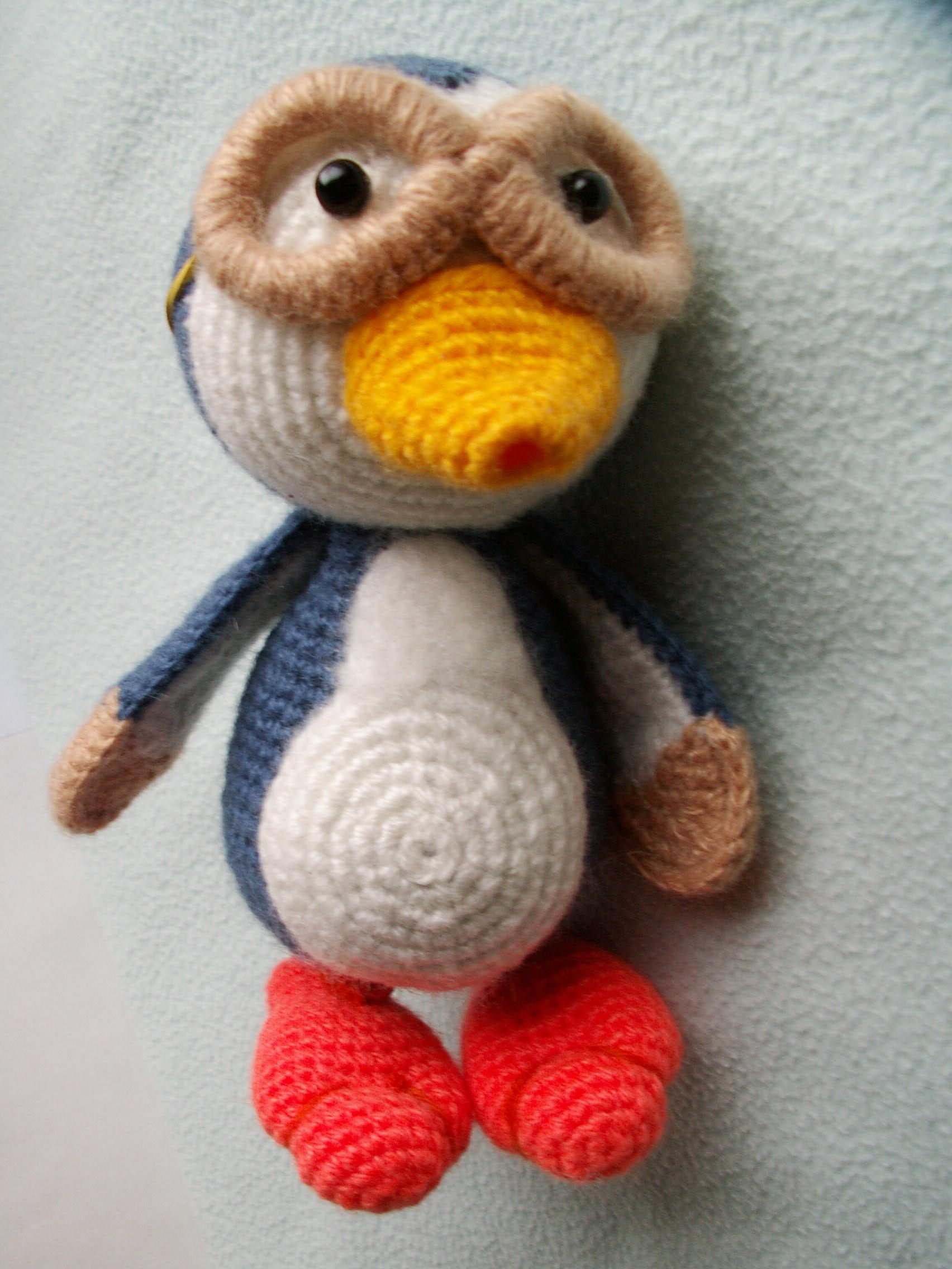 Пингвиненок пороро крючком схема