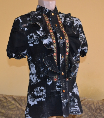Из мужской рубашки - блуза.