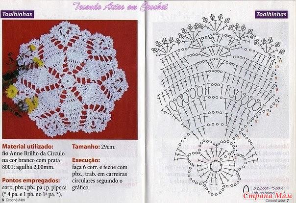 Вязание крючком салфетки схемы и описание с фото для начинающих 47