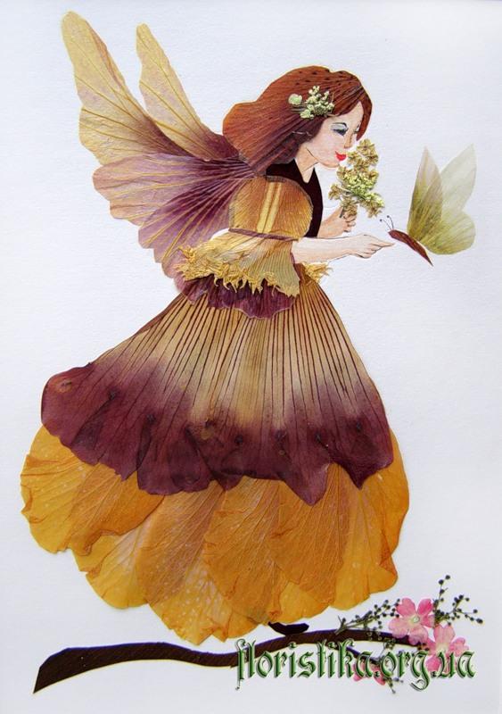 Картины из сухих цветов своими руками с фото