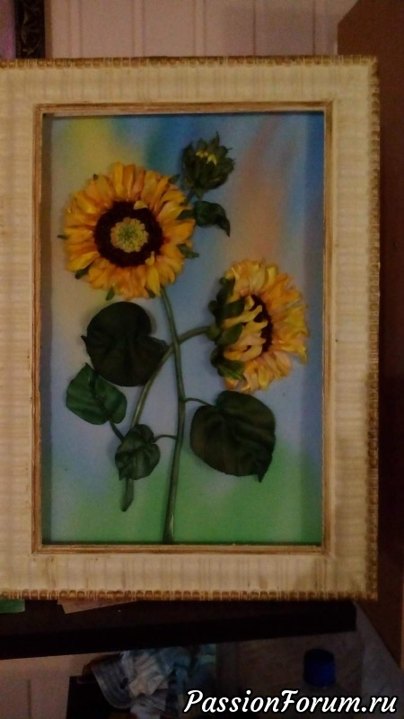 Солнечный цветок!, подсолнухи из атласной ленты