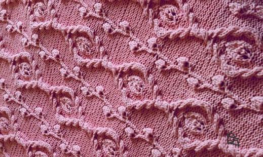 Красивый рельефный узор спицами схема фото 426