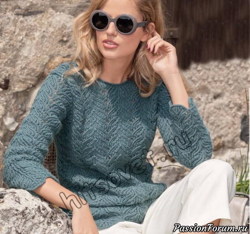 Вязание спицами пуловера, хитсовет, вязание спицами, пуловер женский