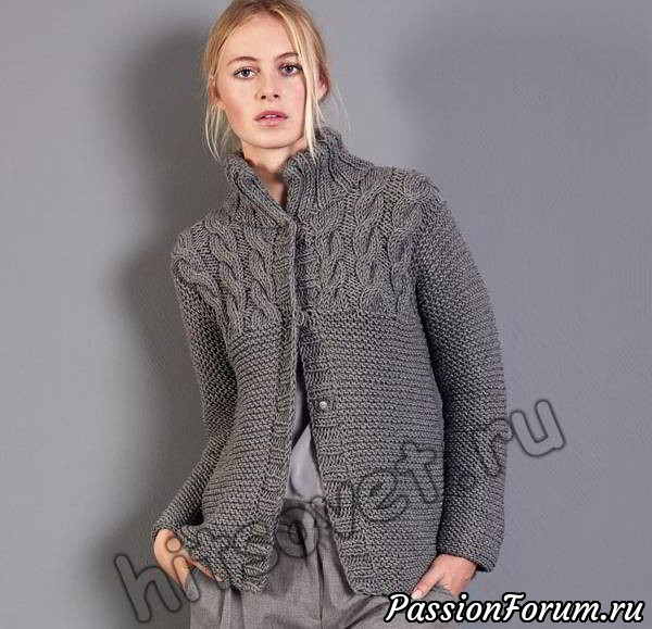 Жакет вязаный для женщин, жакет вязаный, вязание спицами, хитсовет