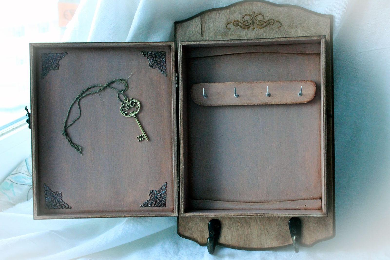 Ключница с дверкой своими руками мастер класс