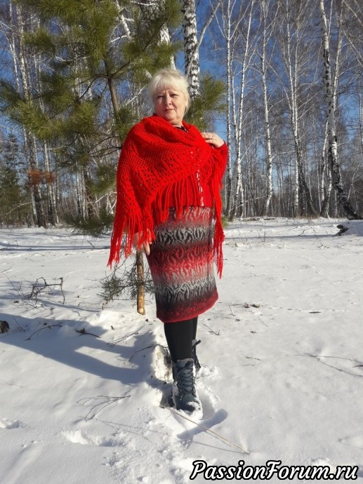 Жаккардовая юбка из Кауни (большой размер), жаккард, вязание спиацами, спицы, кауни, юбка