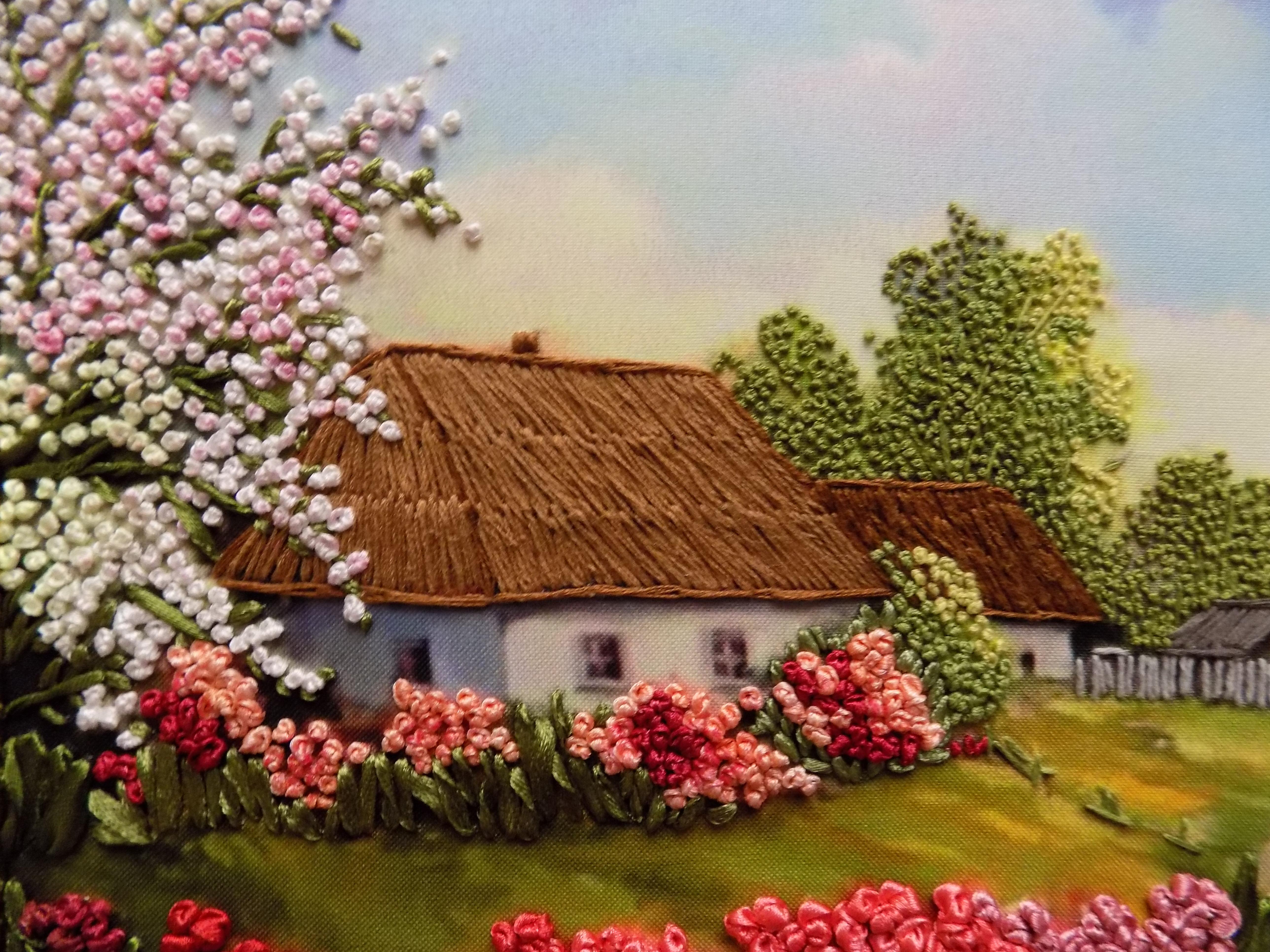 Вышивка лентами картины пейзажи 98