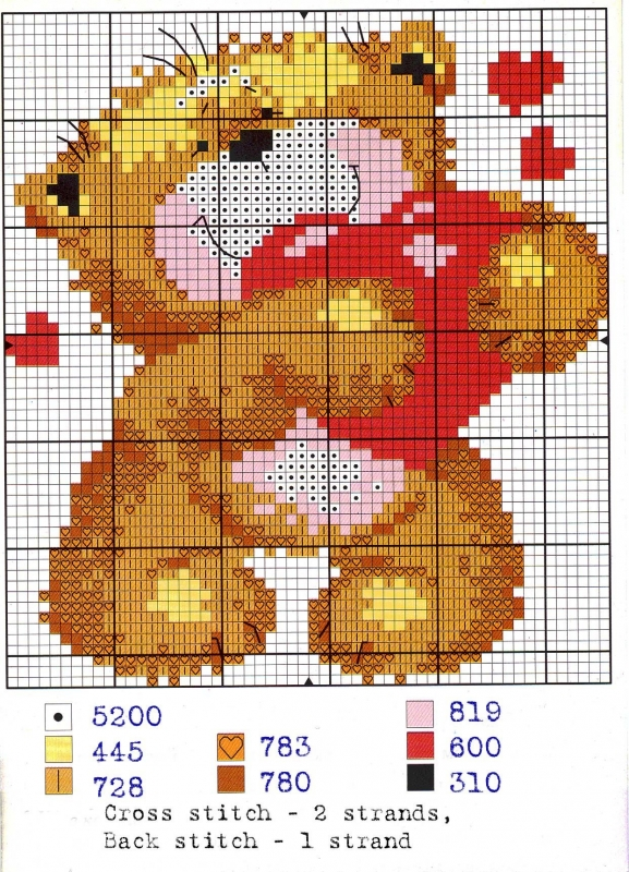 Скачать бесплатно схемы вышивки медведь