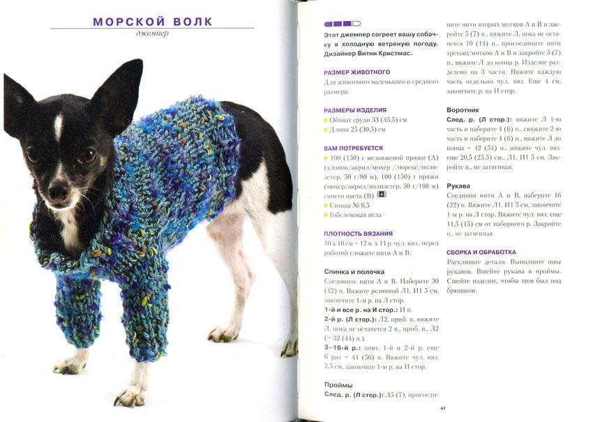Одежда вязанная на собак той терьер