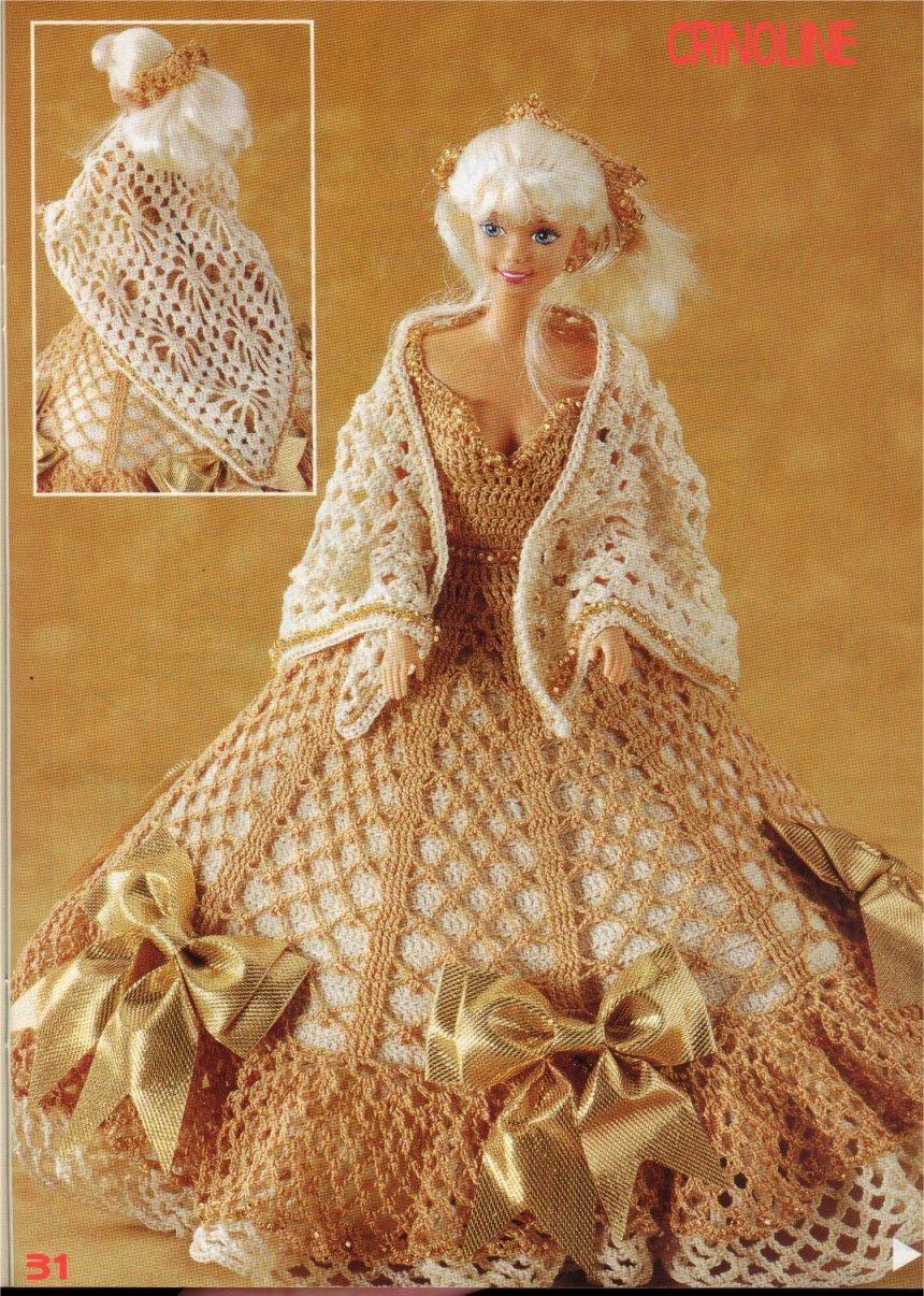 вязание одежды для куклы крючком схема