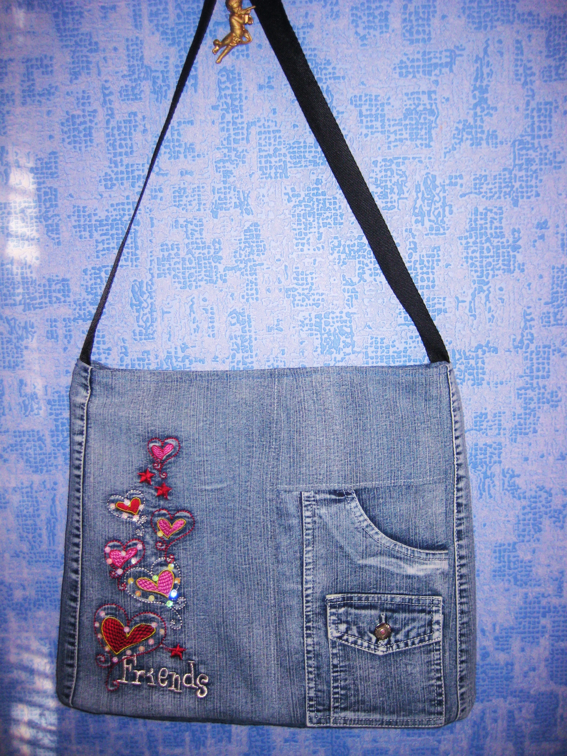 Украшения для джинсовой сумки своими руками фото 27
