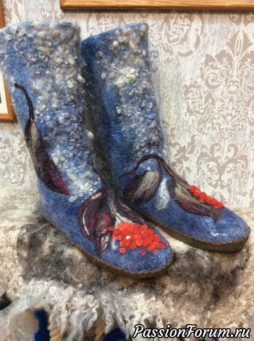 Валеночки домашние., валяная обувь