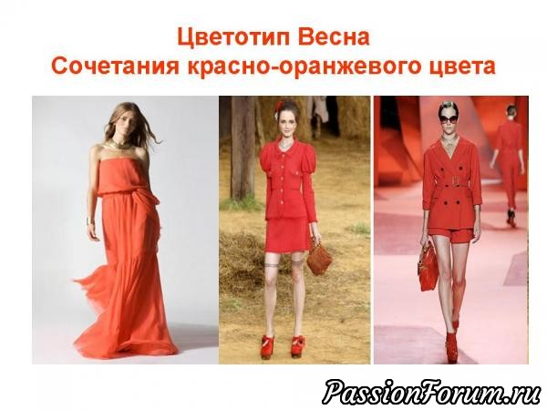 Цветотип Весна Одежда