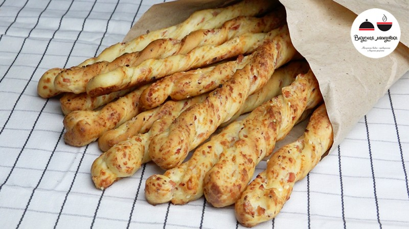 Хлебные палочки в домашних условиях в духовке с фото