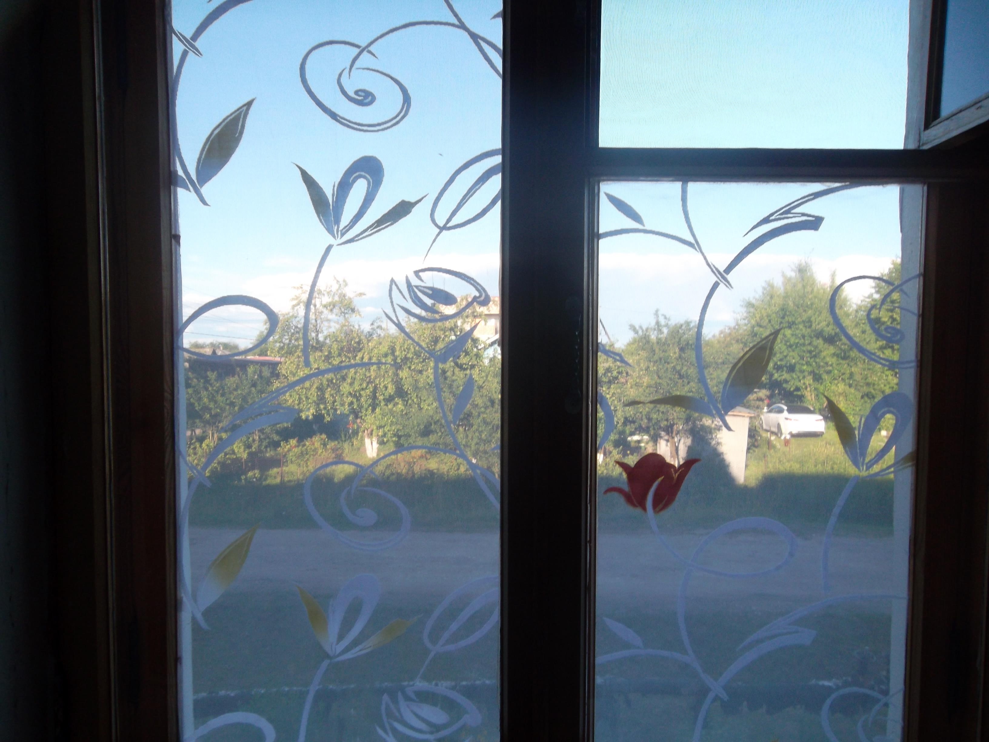 занавеска крючком окно с птицей схема