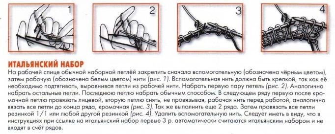 Как сделать резинку спицами