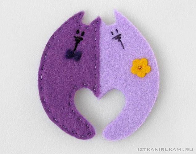 Валентинки своими руками из фетра фото