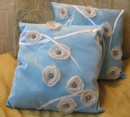 Аппликации из ткани для подушки