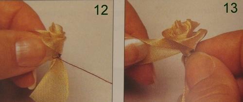 Пошаговая инструкция - как сделать розу из ленты органзы