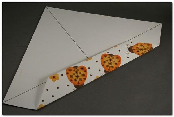 Скрапбукинг - быстрая коробочка из бумаги