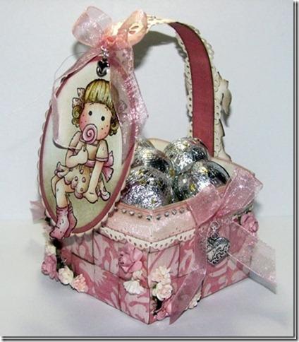 Скрапбукинг - плетёная корзинка