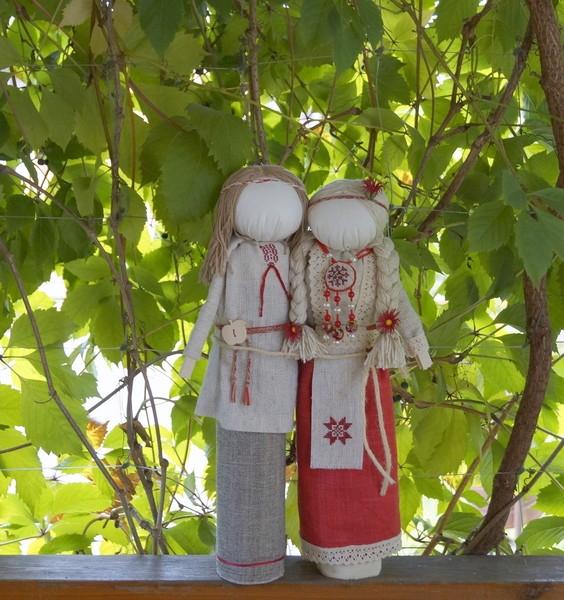 Свадебная кукла-по мотивам народной куклы Мурашенская парочка