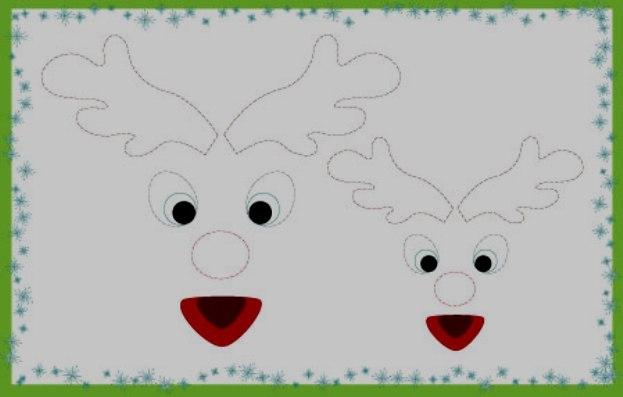 Конвертики на новый год олень