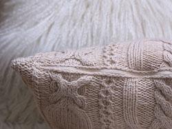 Вязаная подушка. Как вшить застежку-молнию