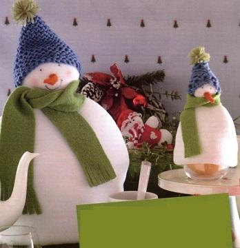 Как сделать новогодние игрушки своими руками. Чехол снеговик