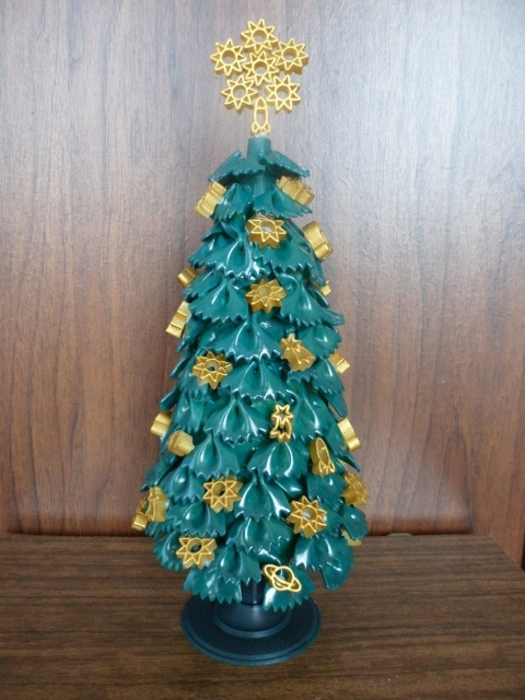 diy tabletop tree christmas gold ornaments ribbons