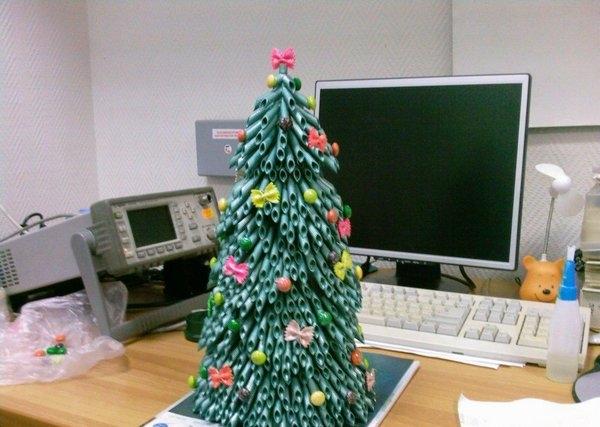 Как сделать новогодние поделки  елка