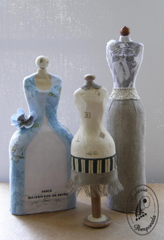 Как сделать Декоративный мини-манекен из папье-маше на бутылке. фото 1