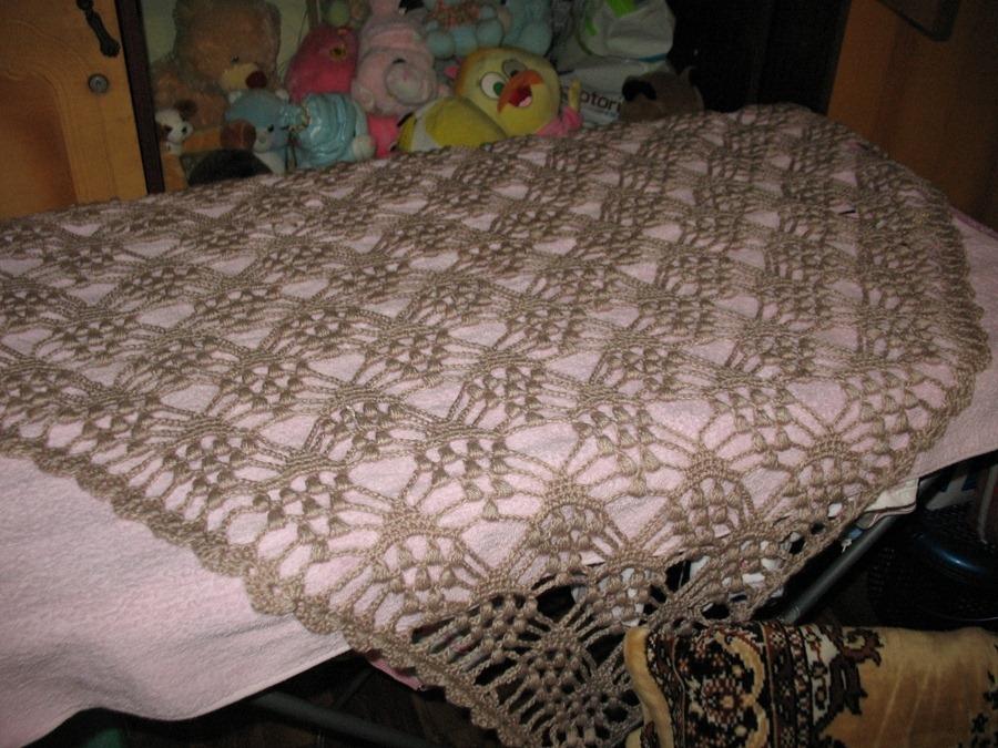 Вязание шали виноградные гроздья 185