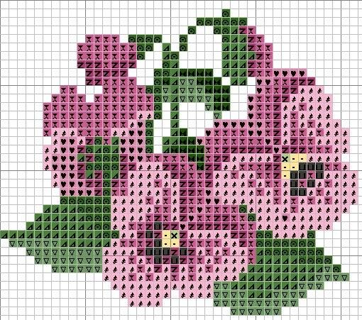 Цветы и растения схемы вышивки
